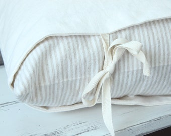 Oh Snap! Tan and Ivory Linen Stripe Decorative Panel