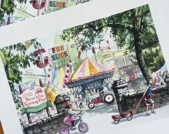 Brooklin Spring Fair print - Archival Quality 8x10
