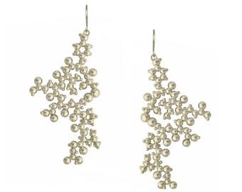 Oxytocin Molecule Earrings - Sterling Silver