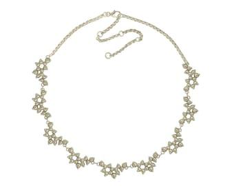 Serotonin Necklace in Sterling Silver - Molecule Jewellery