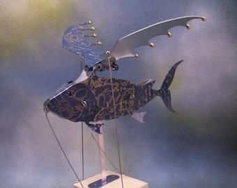 Blue Flying Fish Automaton