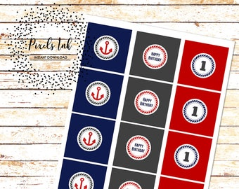 """Nautical Favor Tags 