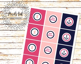 """First Birthday Cupcake Toppers 