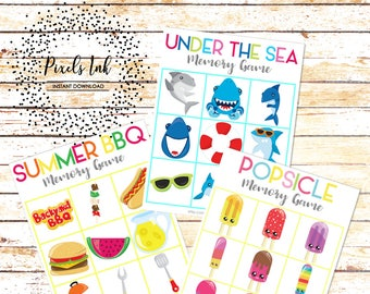 Memory Matching Game for Kids | Road Trip Games for Kids | Quiet Time Games | Printable Preschool Games | Summer Games | Birthday Party Game