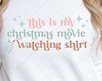 Christmas Movie SVG, Christmas Movie Shirt, Retro Christmas Sweatshirt, Christmas Movies SVG, Vintage Christmas, Christmas Movie Watching