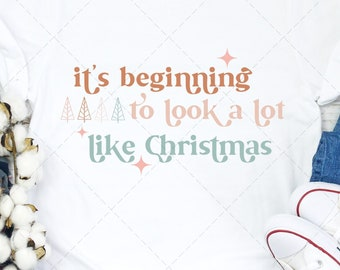 It's Beginning to Look a Lot Like Christmas SVG, Christmas Carols SVG, Christmas Carols PNG, Retro Christmas svg, Vintage Christmas svg, png