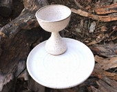 Chalice and Paten Communion Set Handmade Pottery by Daisy Friesen