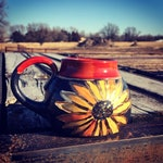 Preorder- Sunflower Mug with gold luster Pottery Handmade by Daisy Friesen