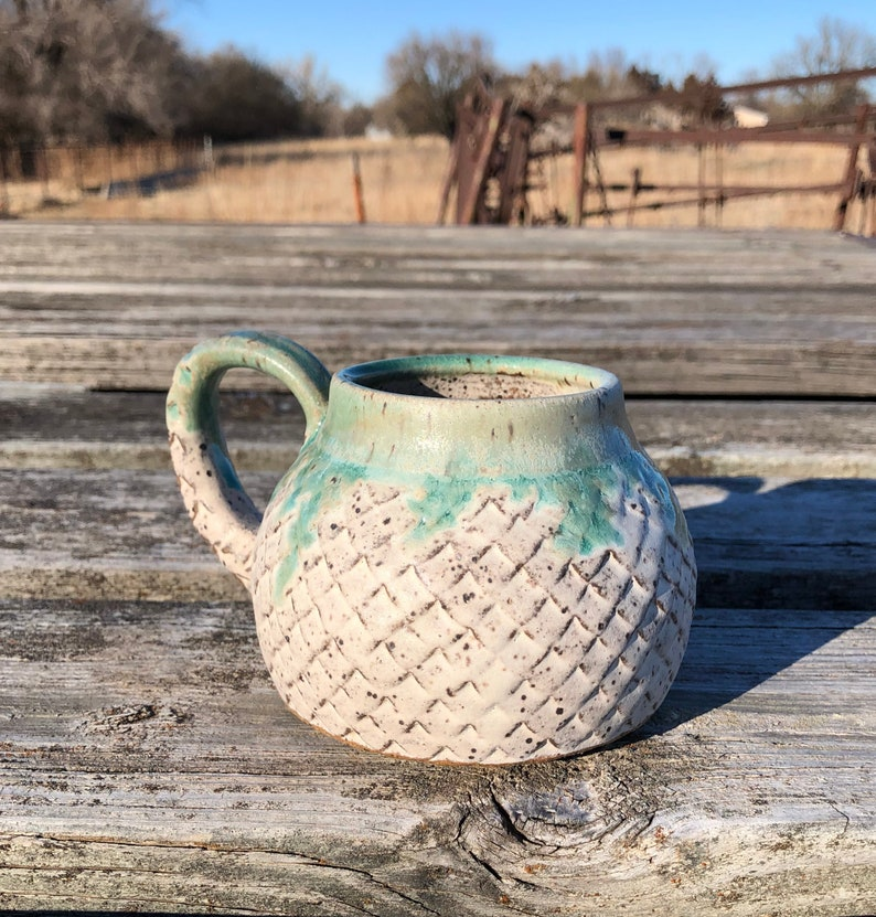 Large Dragon Scale Mug Mermaid Style Boho Style Coffee mug image 0