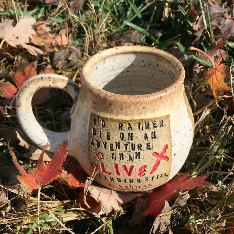 Pottery Mug ADSOM V. E. Schwab I'd Rather Die on an image 0