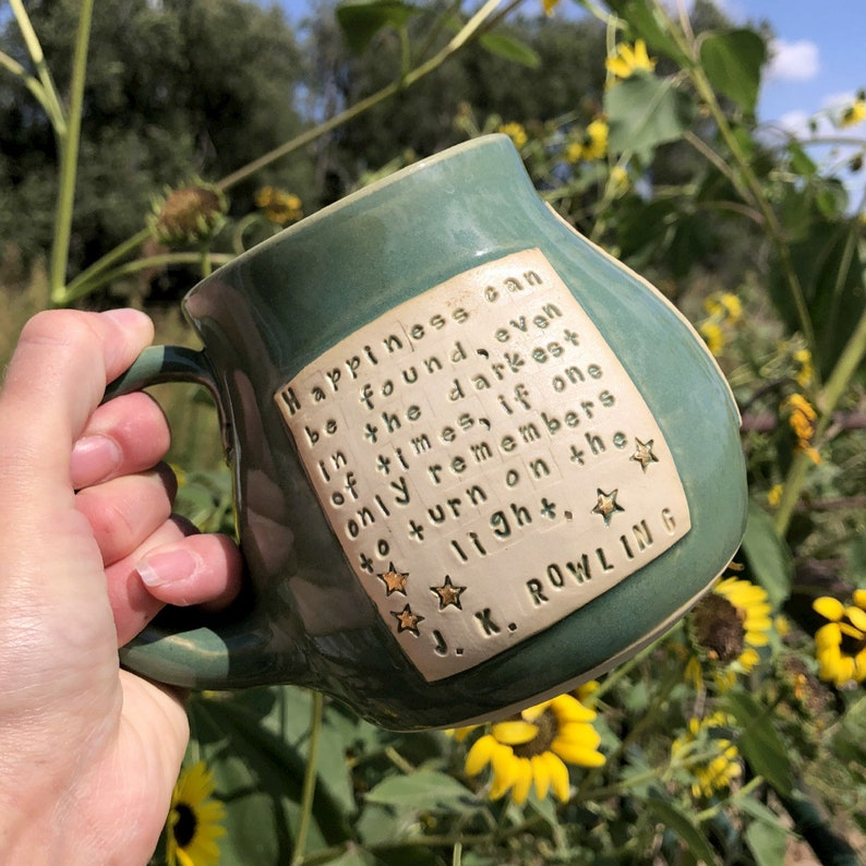 Coffee Mug Harry Potter Happiness Can be Found Pottery image 0