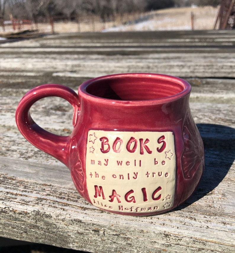 Large Literary Mug Books may well be the only true magic image 0