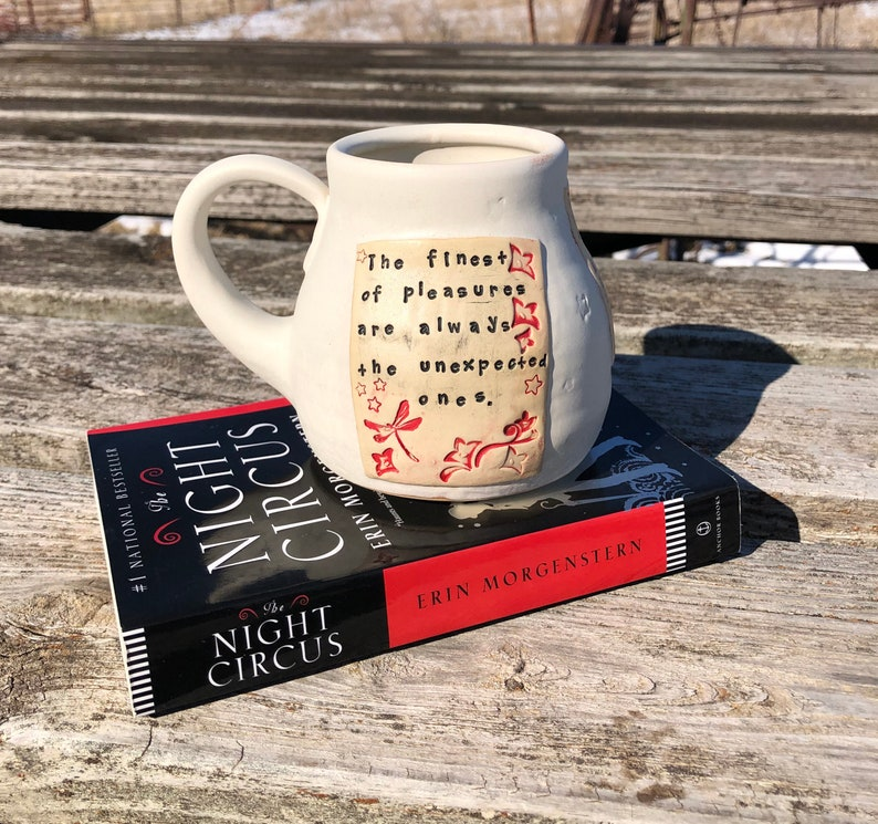 Large Literary Mug-The Finest of Pleasures-The Night Circus image 0