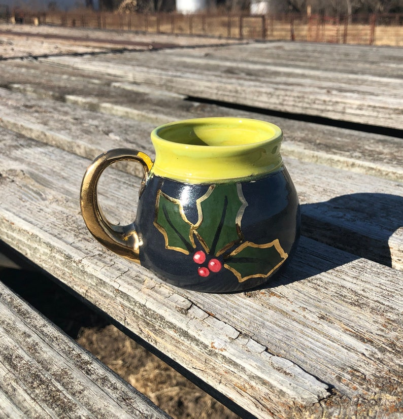 Holly Mug Pottery Handmade by Daisy Friesen image 0