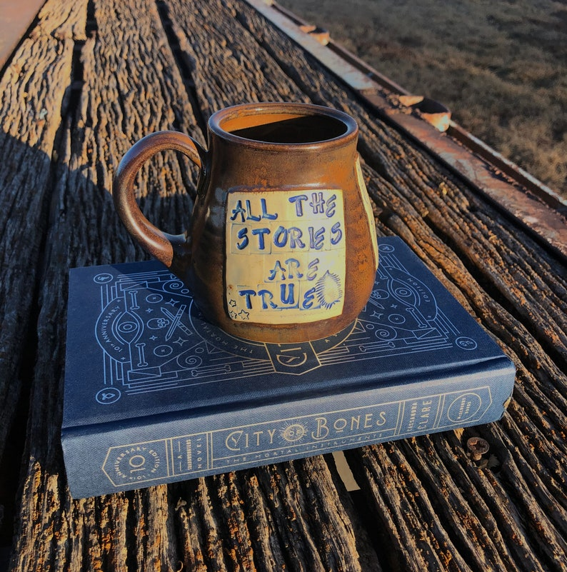 Large Pottery Mug-Shadowhunters All the Stories Are True-City image 0