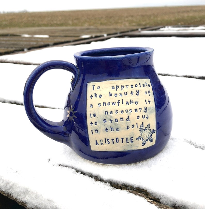 Snow Mug Cobalt Blue-Pottery Handmade by Daisy Friesen image 0