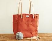 Knitting Tote Bag w/ Leather Straps | ARTIFACT