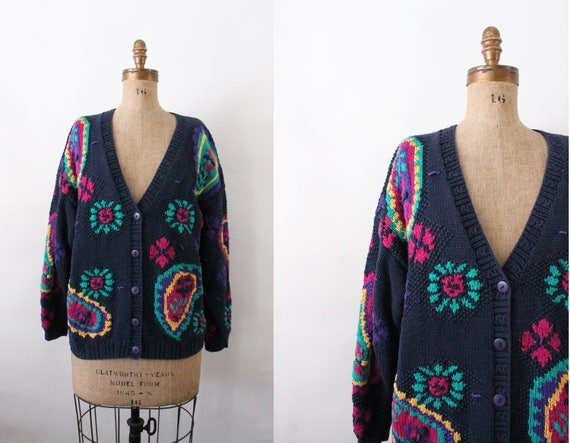 a456aa89383f 90s sweater vintage cotton knit cardigan 90s clothing
