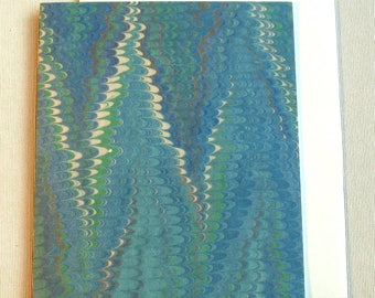 Note Card PC002 Printed Marbled Design from Brooklyn Marbling. Free Shipping!