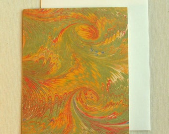 Note Card PC014 Printed Marbled Design from Brooklyn Marbling