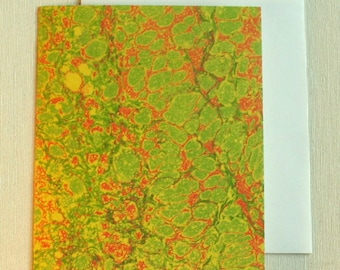 Note Card PC018 Printed Marbled Design from Brooklyn Marbling