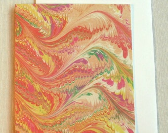 Note Card PC003 Printed Marbled Design from Brooklyn Marbling