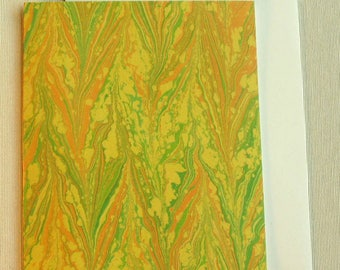 Note Card PC008 Printed Marbled Design from Brooklyn Marbling