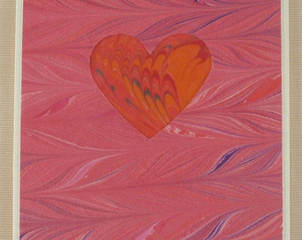 SHC104  Heart card of deep rich red shows the depth of your love!