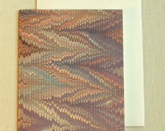 Note Card PC0017 Printed Marbled Design from Brooklyn Marbling