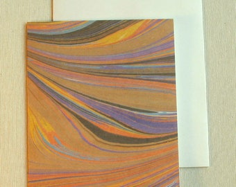 Note Card PC019 Printed Marbled Design from Brooklyn Marbling
