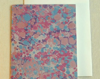 Note Card PC020 Printed Marbled Design from Brooklyn Marbling
