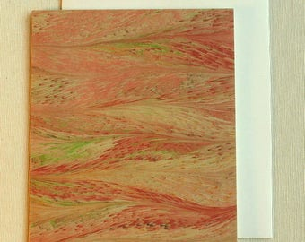 Note Card PC013 Printed Marbled Design from Brooklyn Marbling