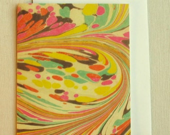 Note Card PC010 Printed Marbled Design from Brooklyn Marbling