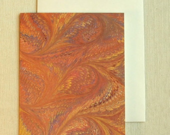 Note Card PC016 Printed Marbled Design from Brooklyn Marbling