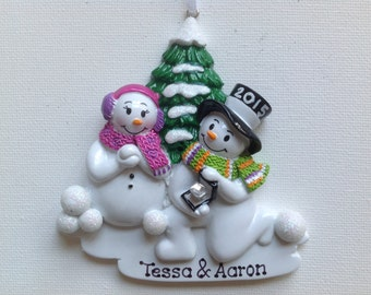Personalized Christmas Ornament Pregnant Snowman Etsy