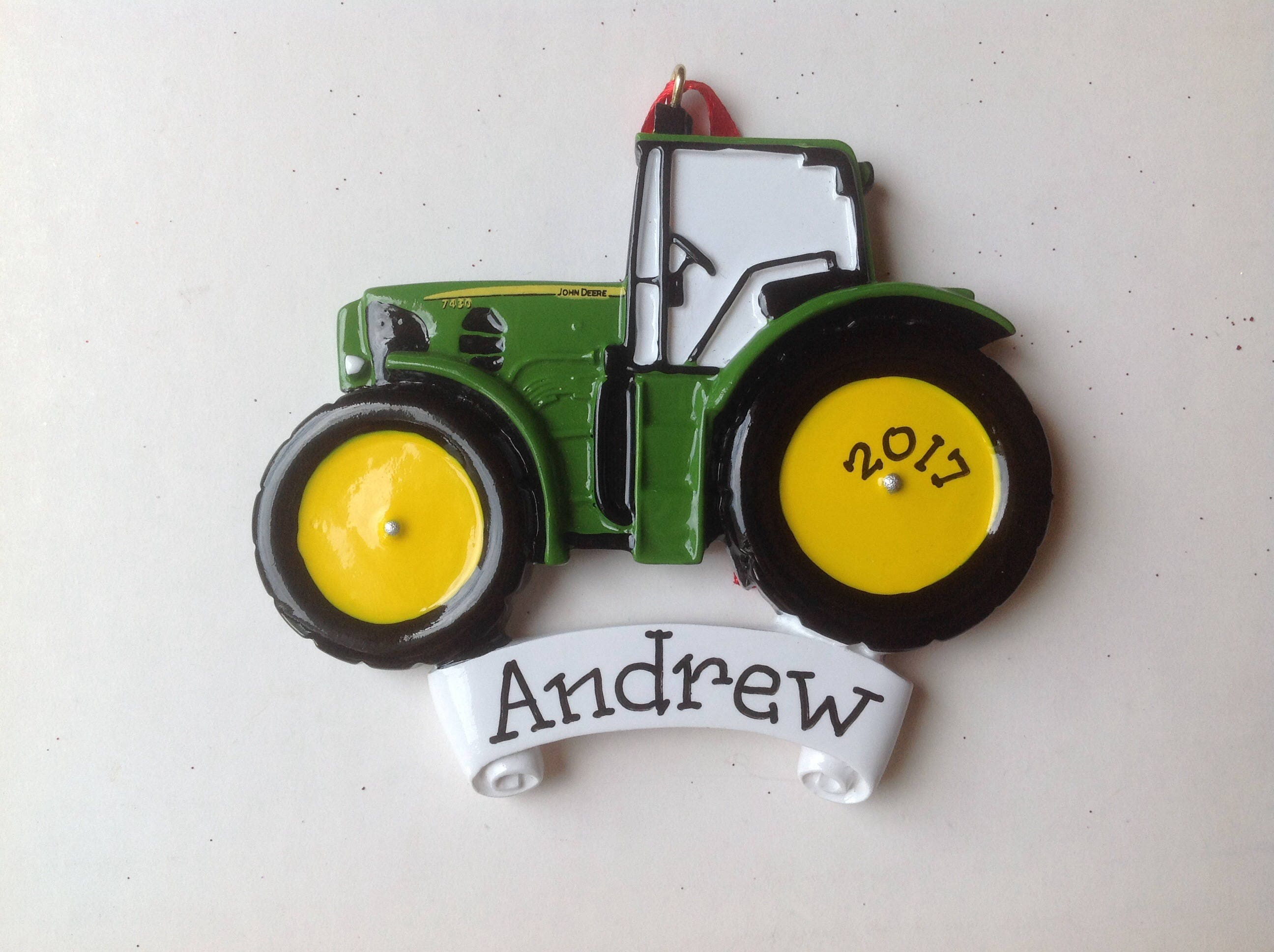 John Deere Green Tractor Personalized Christmas Ornament | Etsy