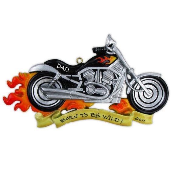 Personalized Christmas Ornament Harley Davidson Motor Cycle Etsy