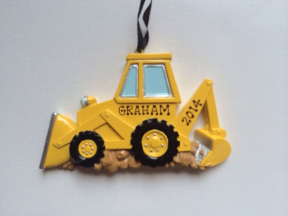 Buy bulldozer ornament personalized christmas ornament from a