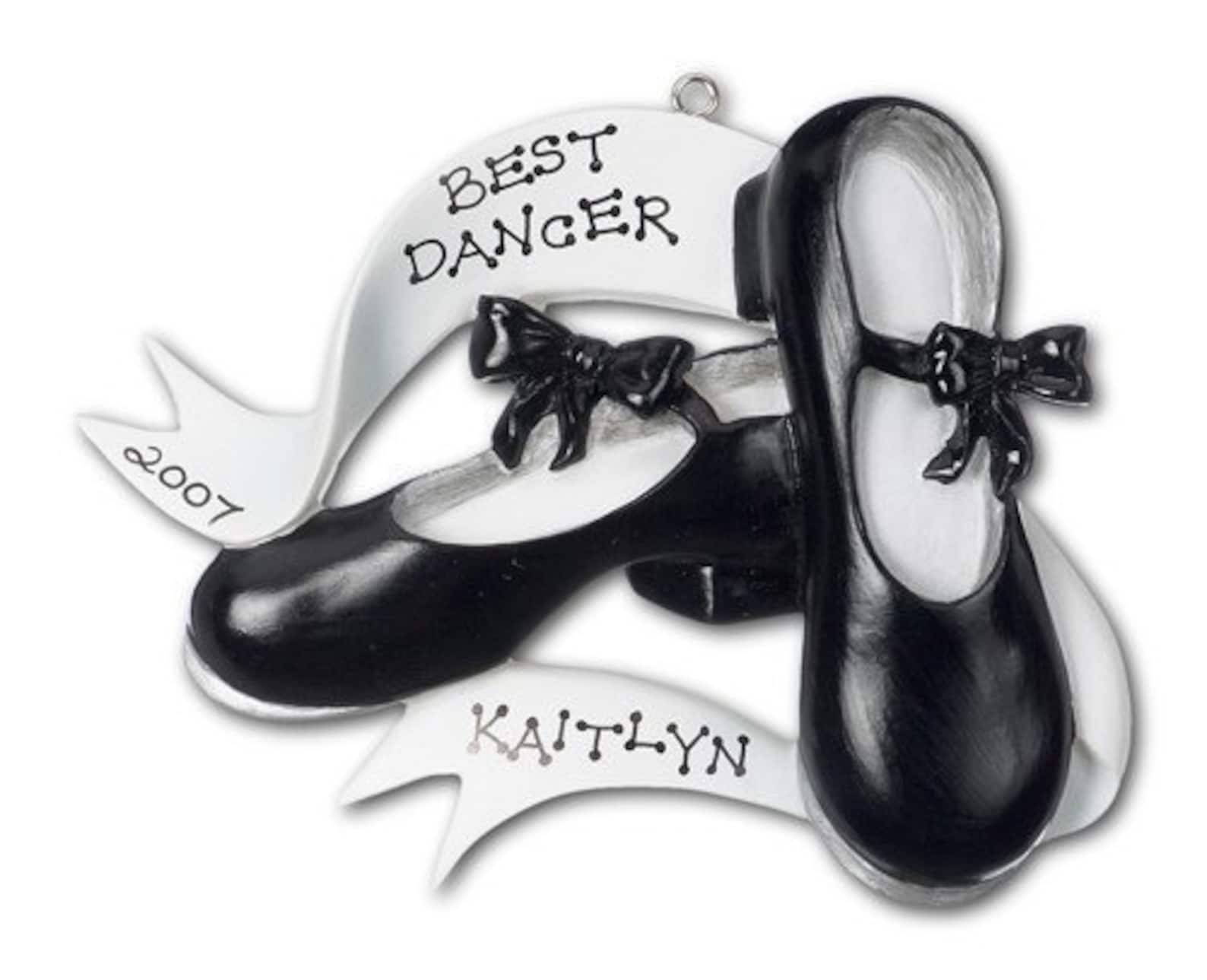 personalized dance christmas ornaments- ballet and tap shoes- great gift for the dancers and the teachers.