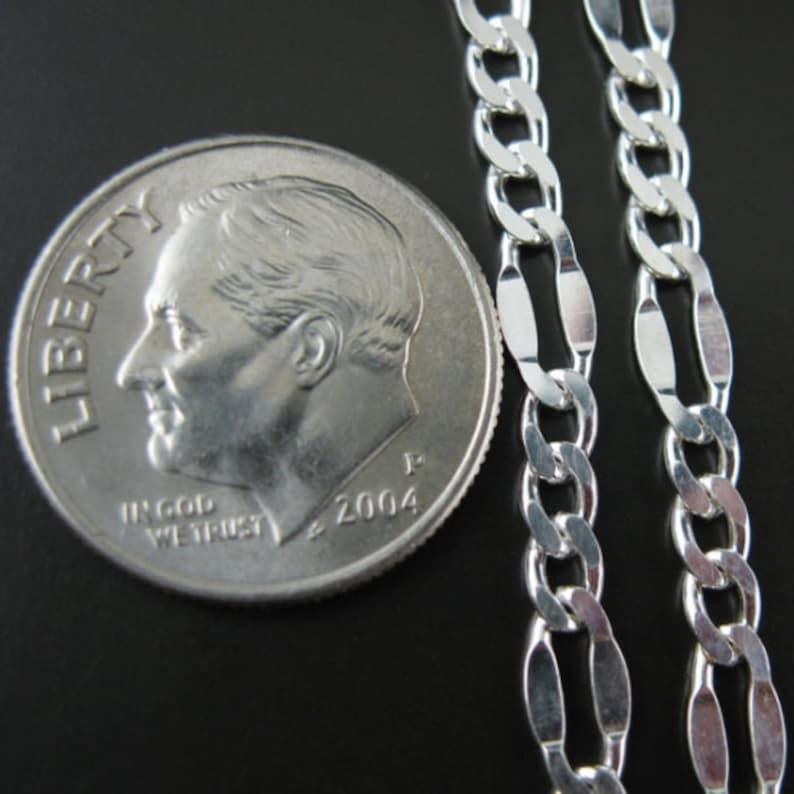 8mm Fancy Figaro Chain Sterling Silver Chain Bulk Unfinished Bulk Chain Sterling Silver Men/'s Chain Sku: 101034
