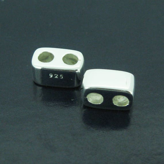 Sterling Silver Findings Sliding Beads With Silicone