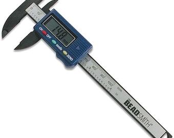 Jewelry Making Tools - Caliper - Digital Caliper - Inner Measurement, Outer Measurement Tool - Beadsmith Tools- Sku: 501045