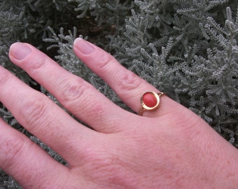 Vintage 1960's Coral Dress Ring