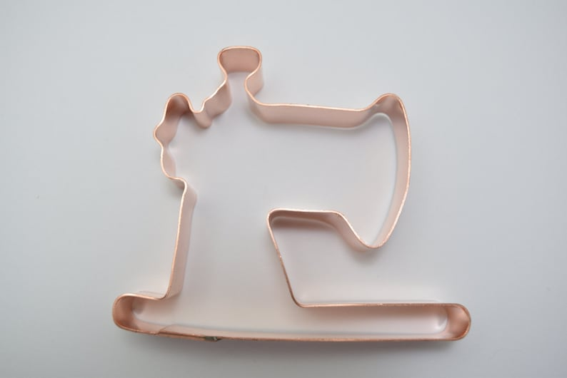 Vintage Sewing Machine ~ Copper Cookie Cutter Handcrafted by The Fussy Pup
