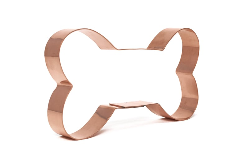 Handcrafted by The Fussy Pup 5 inch Copper Dog Bone Cookie Cutter