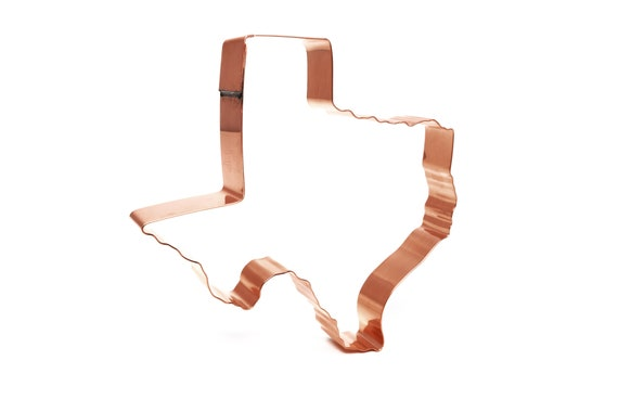Handcrafted by The Fussy Pup State of Oregon ~  Copper Cookie Cutter