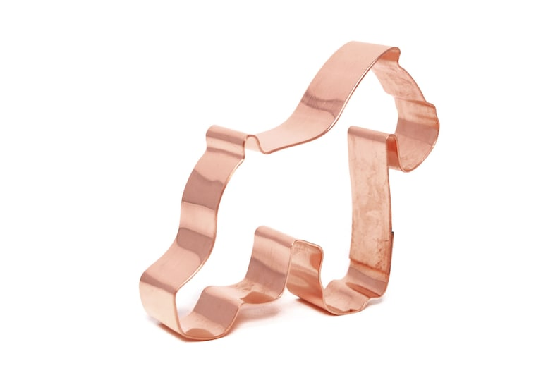 Small  Schnauzer Copper Dog Breed Cookie Cutter  Handcrafted image 0