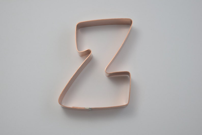 The Letter Z Copper Alphabet Cookie Cutter Handcrafted by The Fussy Pup
