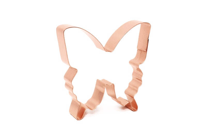 Swallowtail Butterfly  Copper Cookie Cutter  Hand Crafted by image 0