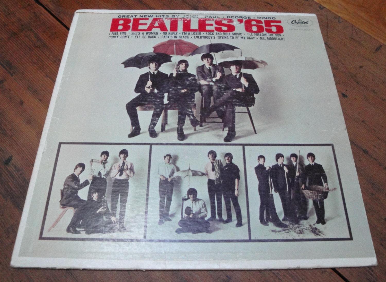 Beatles 65 Album 1960s Capitol Records T2228 Vintage Etsy